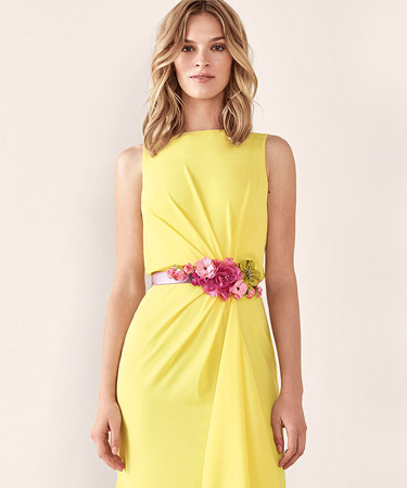 Vestidos Cocktail Dress amarelo