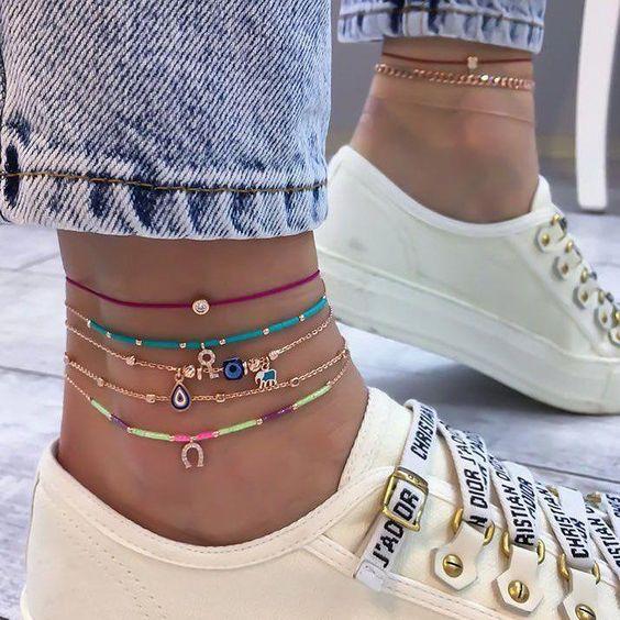 acessorios moda reveillon tornozelos