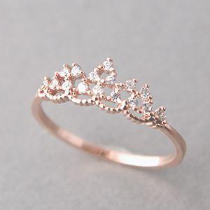 anel noivado coroa