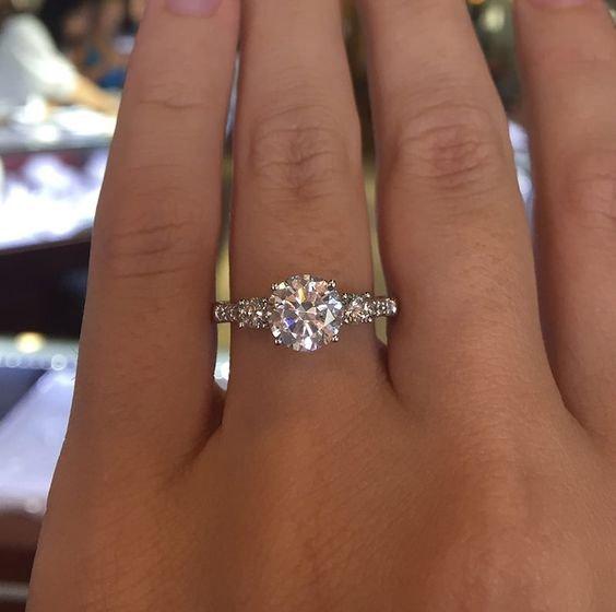 anel noivado simples