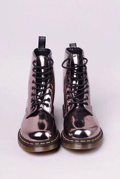 botas brilho metalizado
