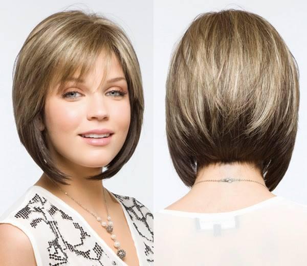 cabelo com franja curto