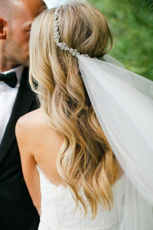 cabelo solto veu noiva