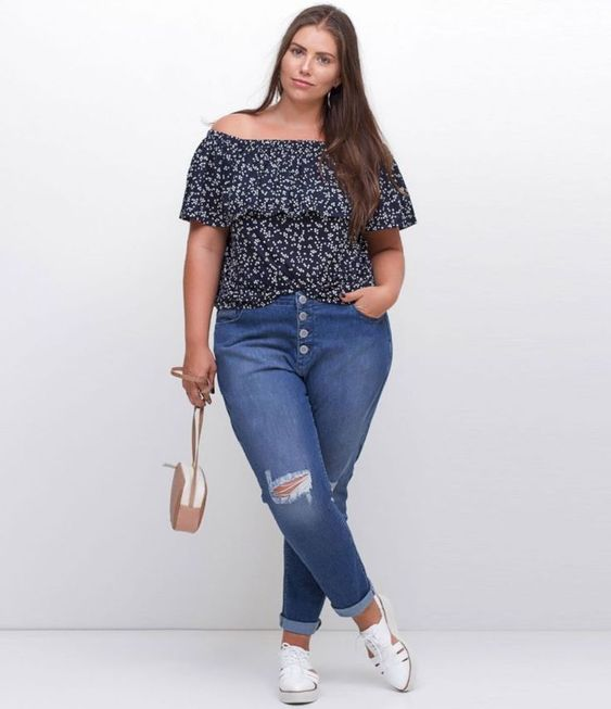 calca jeans plus size botoes