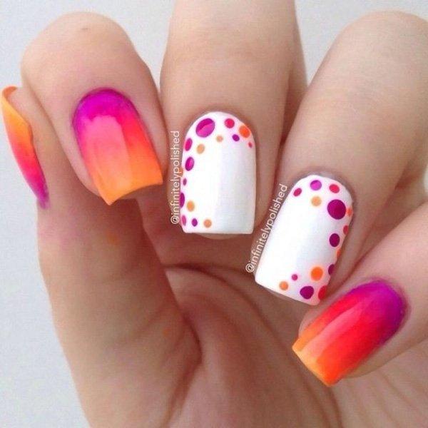 como decorar unhas com bolinhas