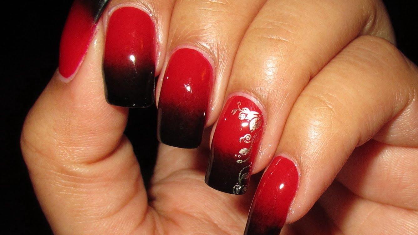 como decorar unhas de vermelho