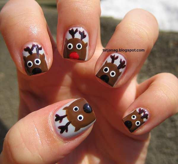 como decorar unhas para o natal