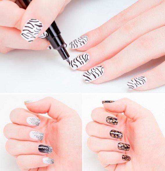 como fazer desenhos nas unhas