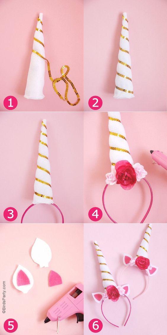 como fazer tiara unicornio 1