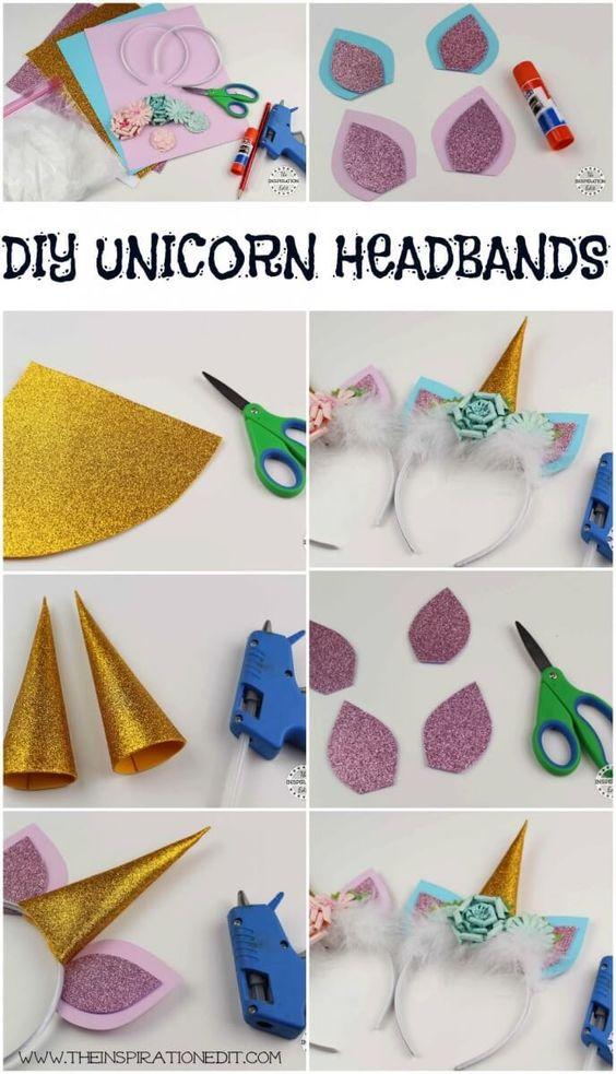 como fazer tiara unicornio 2