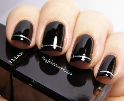 como fazer unhas em preto
