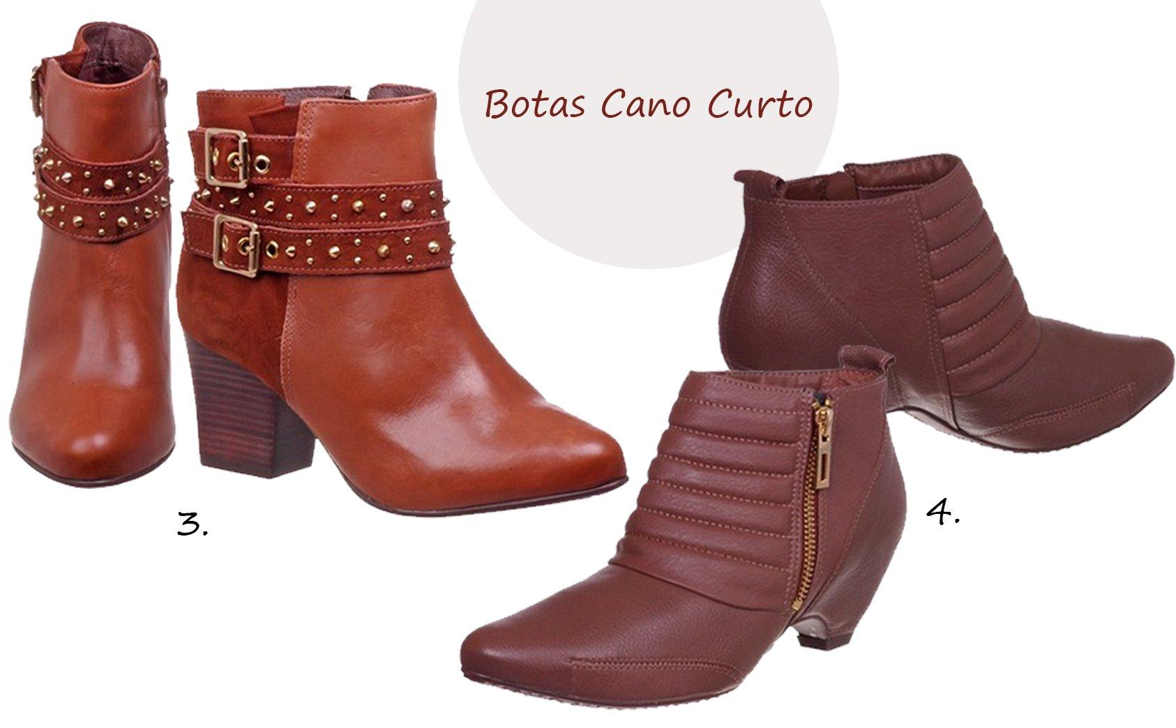 comprar botas cano curto online