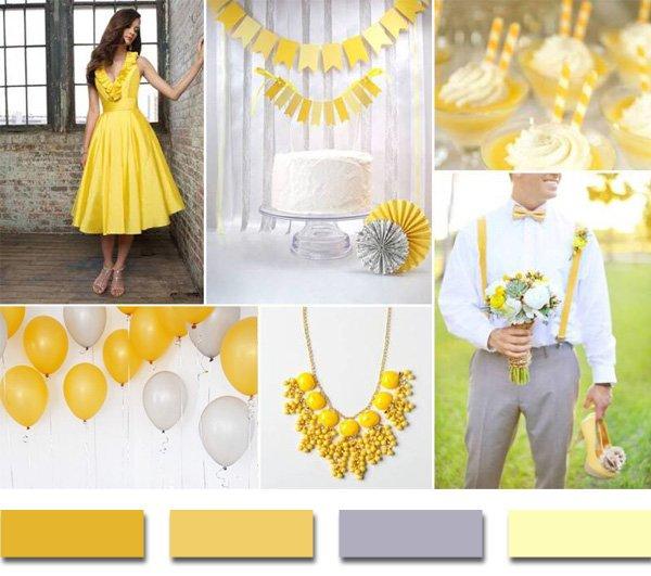 cores casamento amarelo