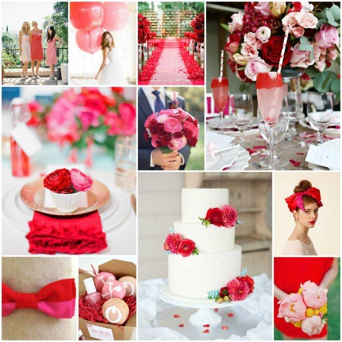 cores casamento vermelho