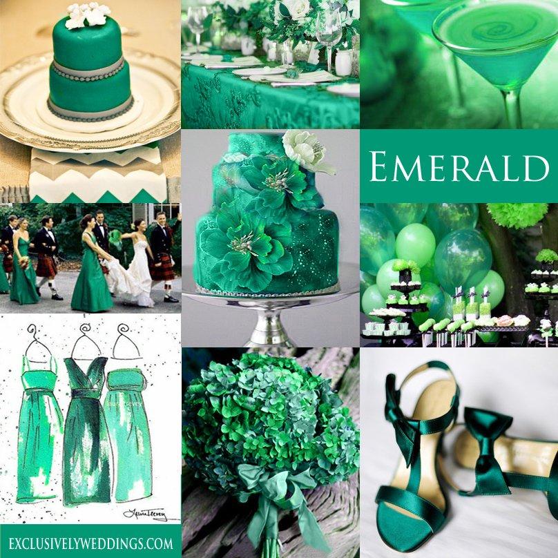 cores de casamento esmeralda