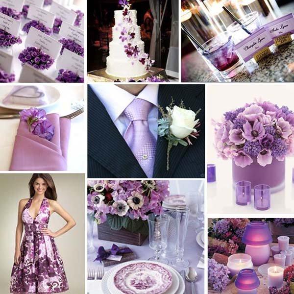 decoração de casamento lilas