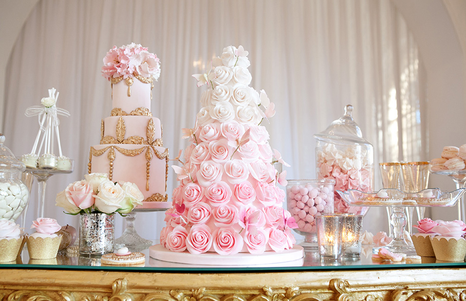 decoracao bolo de casamento 2016