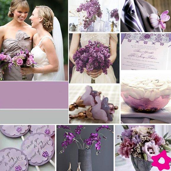 decoracao casamento em lilas