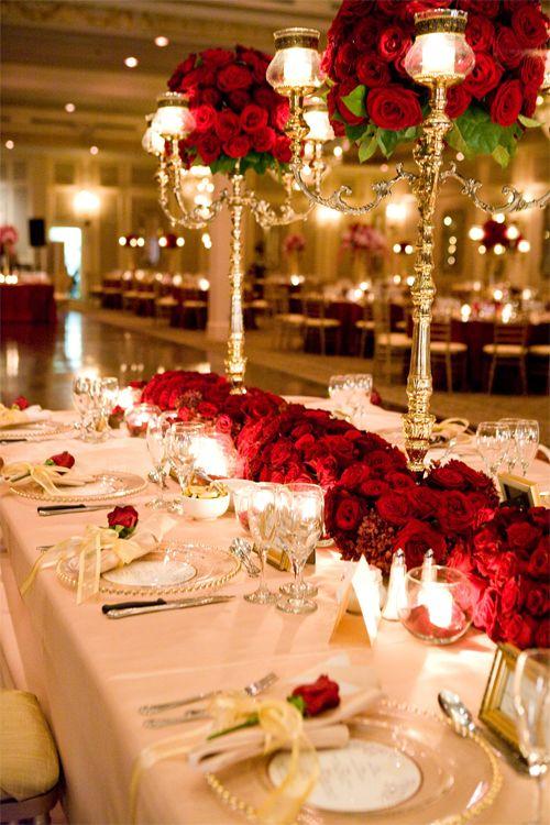 decoracao casamento vermelho branco 2