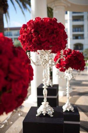 decoracao casamento vermelho branco 3