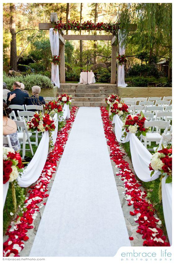 decoracao casamento vermelho branco 4