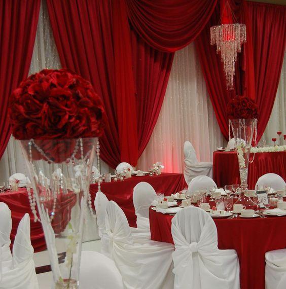 decoracao casamento vermelho branco 8