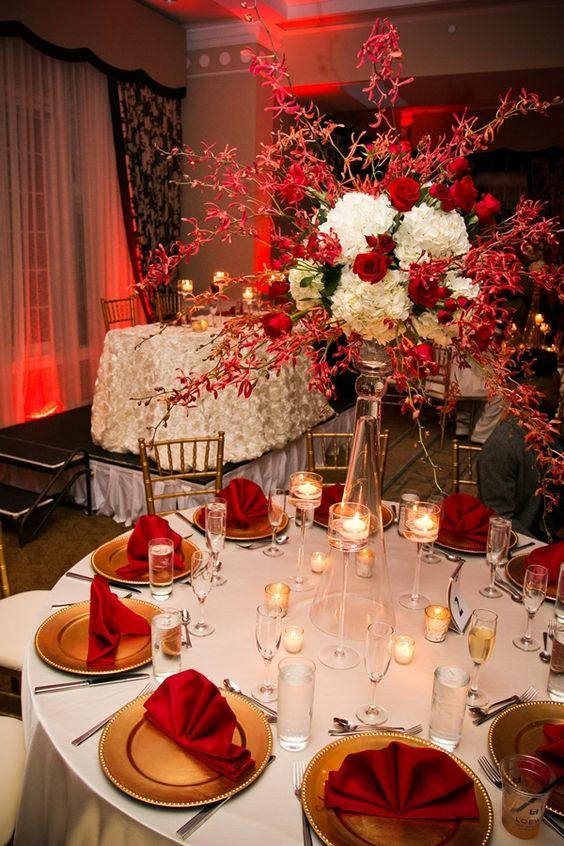 Decora 231 227 O De Casamento Vermelho E Branco