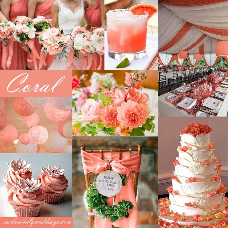 decoracao de casamento 2016 coral