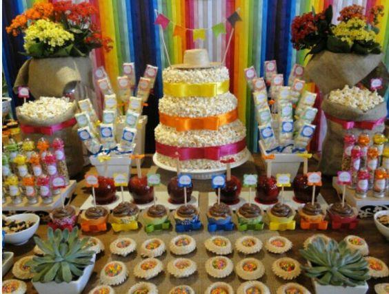 decoracao festa junina comida