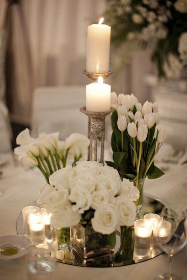 decoracao mesa casamento castiçal