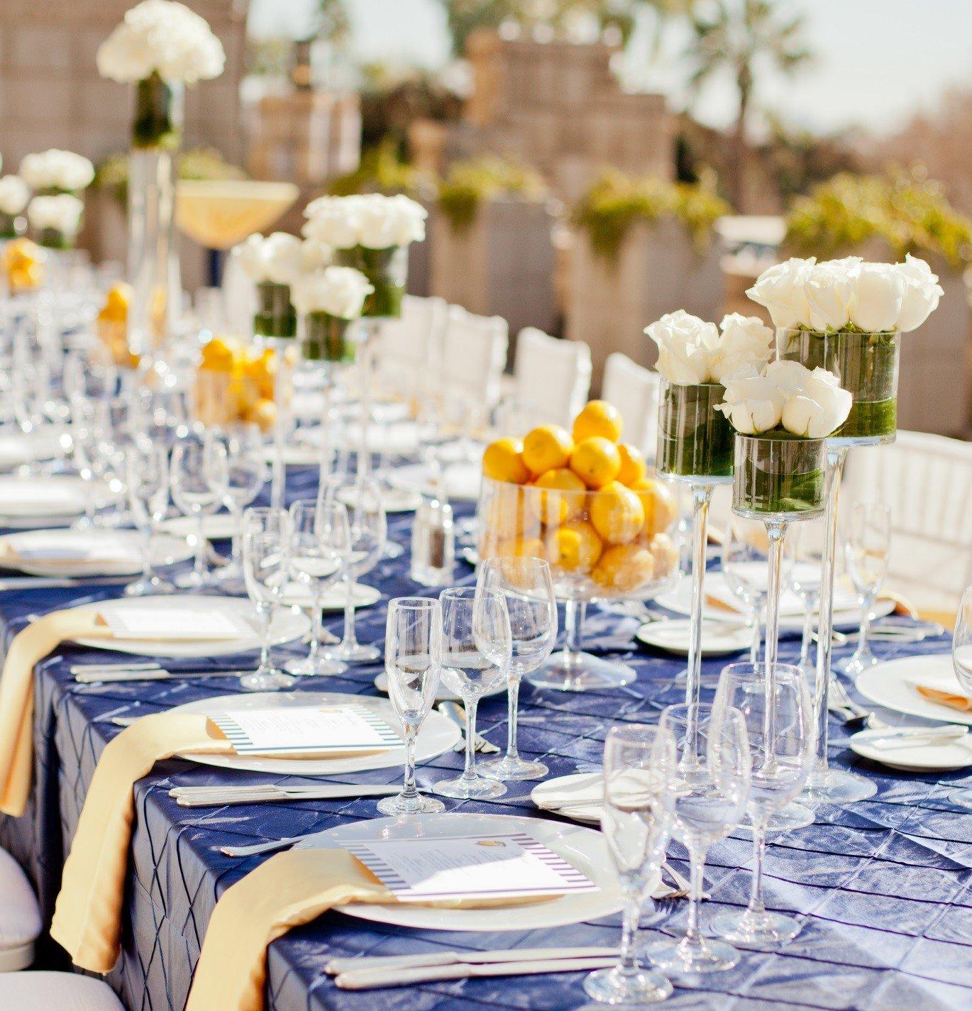 decoracao mesa de casamento