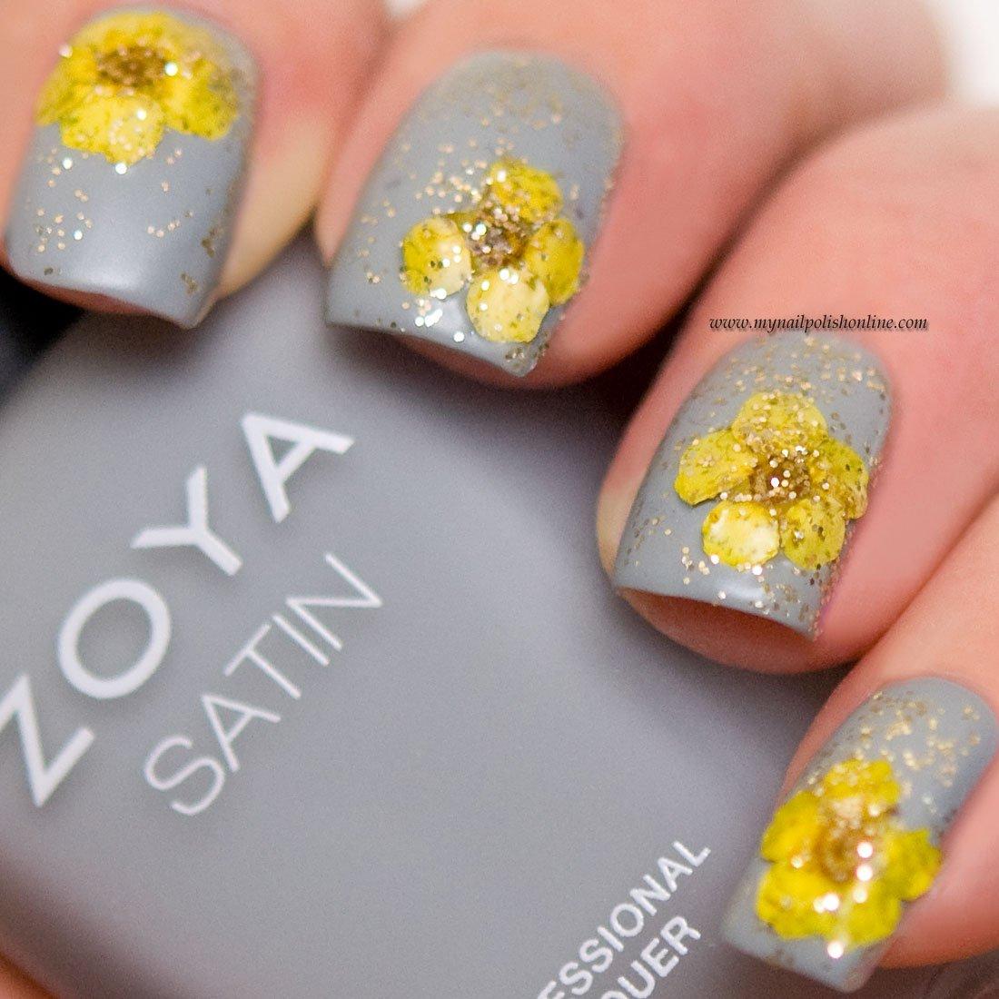 decorar unhas com flores