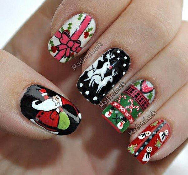 decorar unhas para o natal