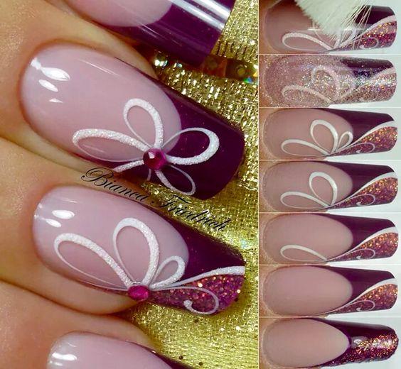 desenhos unhas lilas