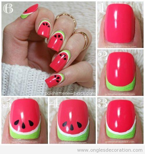 desenhos unhas melancia