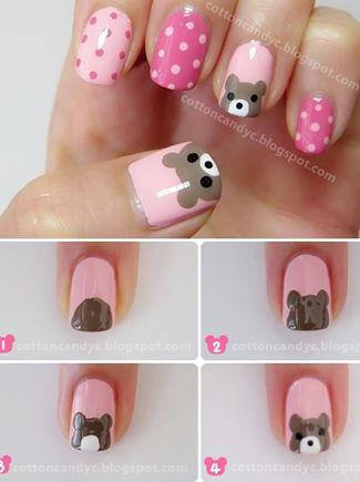 desenhos unhas urso