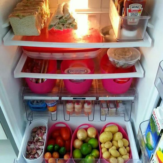 dicas organizacao cozinha geladeira