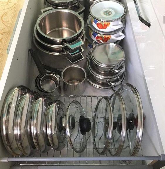 dicas organizacao cozinha panelas