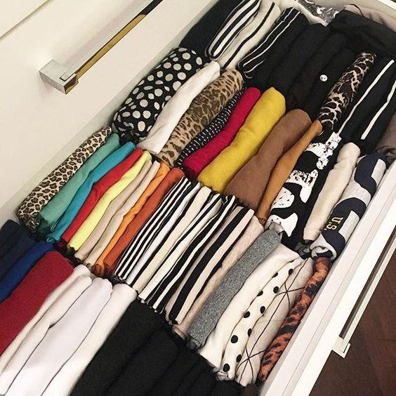 dicas organizacao quarto roupa