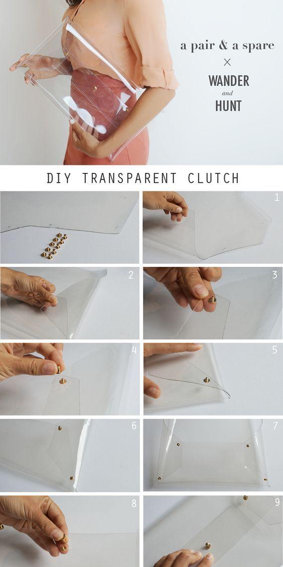 diy mochila transparente 1