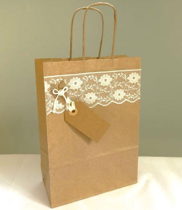 diy sacola papel festa casamento