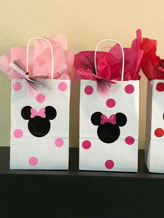 diy sacola papel festa minnie