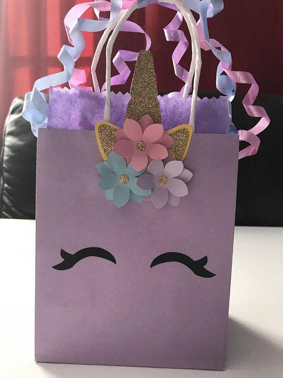 diy sacola papel festa unicornio 1