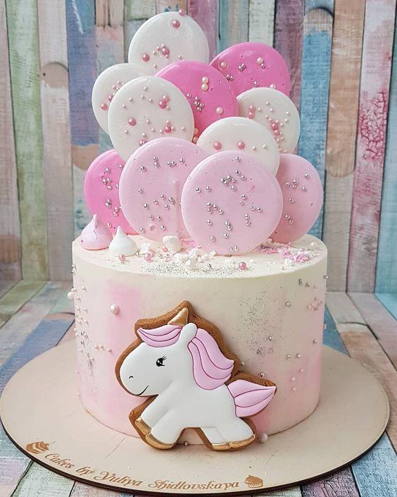 festa unicornio bolo brilho