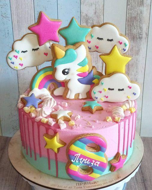 festa unicornio bolo simples