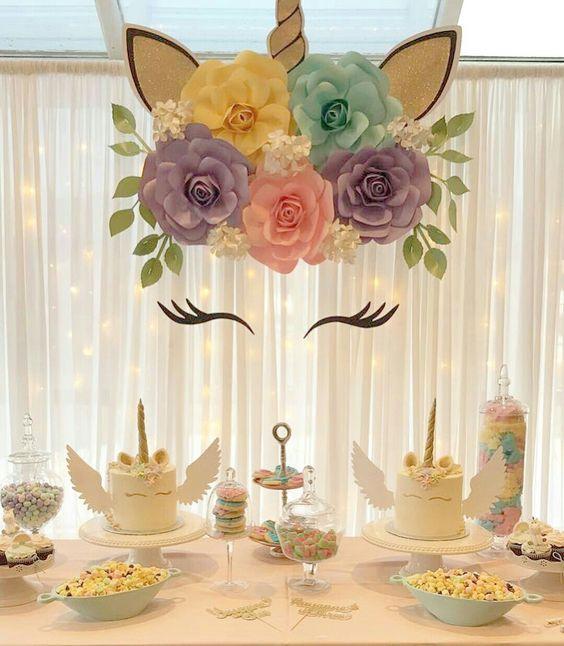 festa unicornio decoracao painel