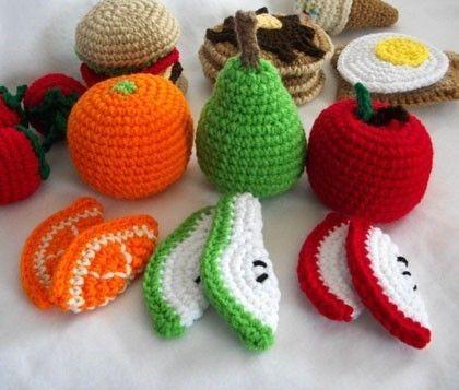 frutas croche ideias coloridas