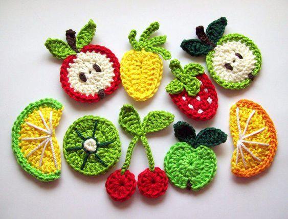 frutas croche ideias