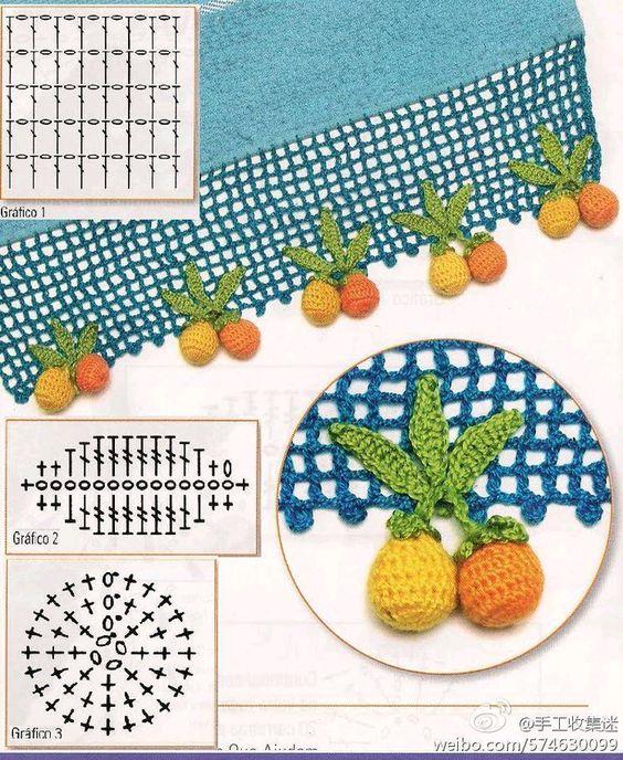 frutas croche passo passo barra