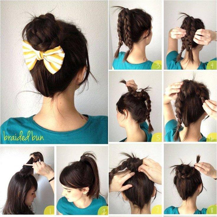 ideia de penteado simples